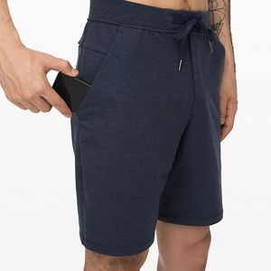 "City Sweat Short French Terry 9"" in Heathered Navy"